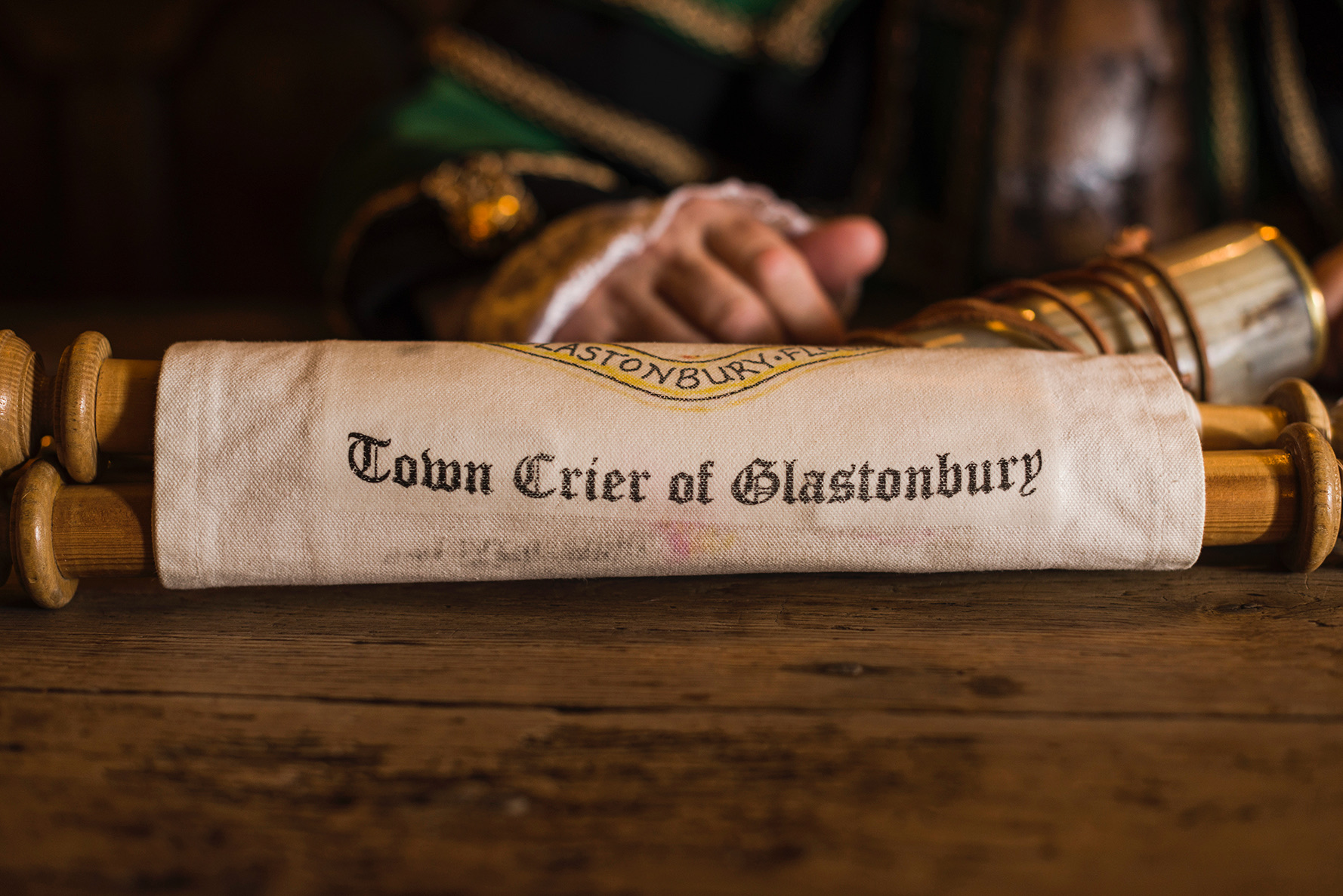 Town Crier of Glastonbury Scroll