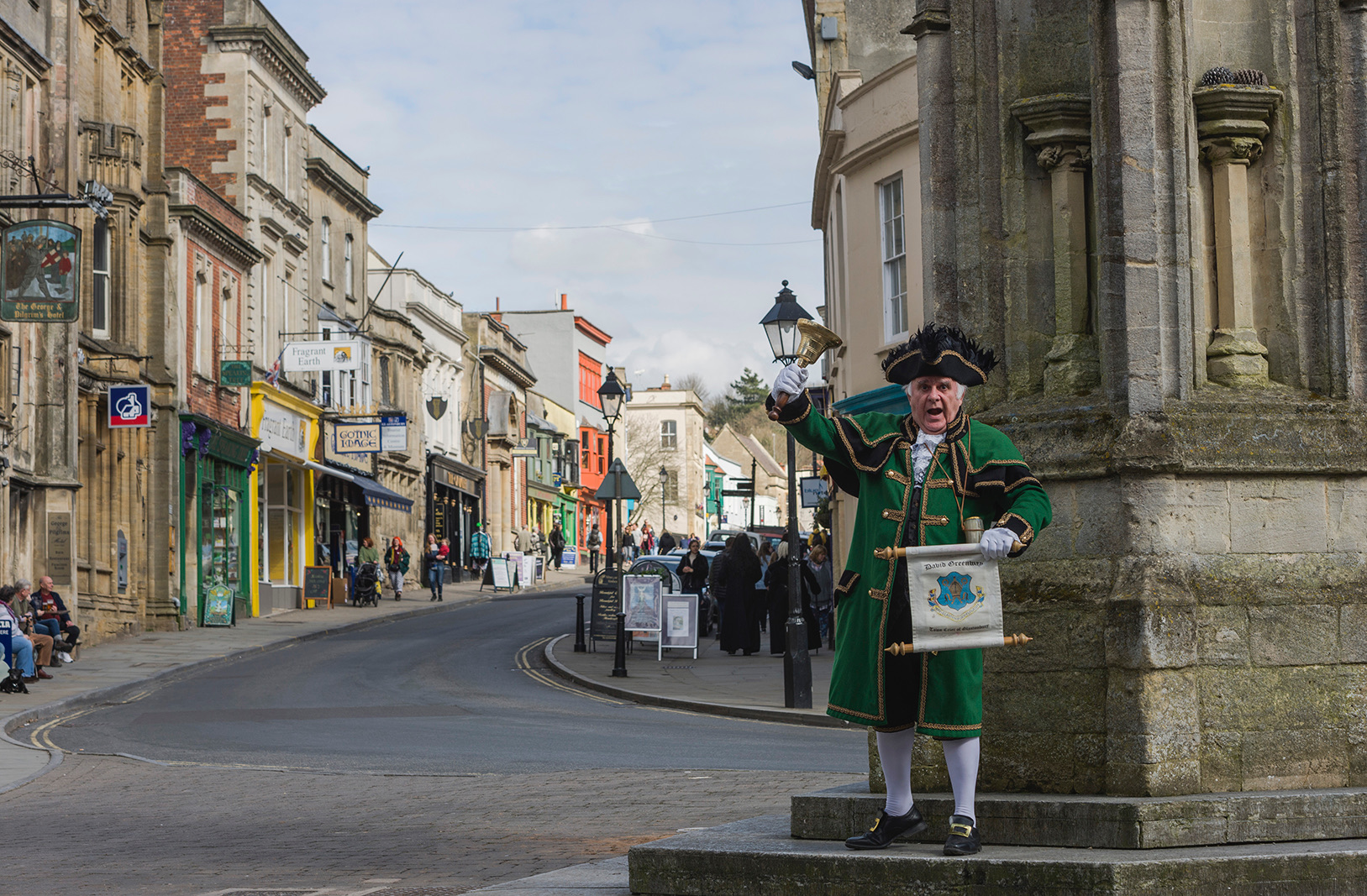 Town Crier of Glastonbury at Market Cross